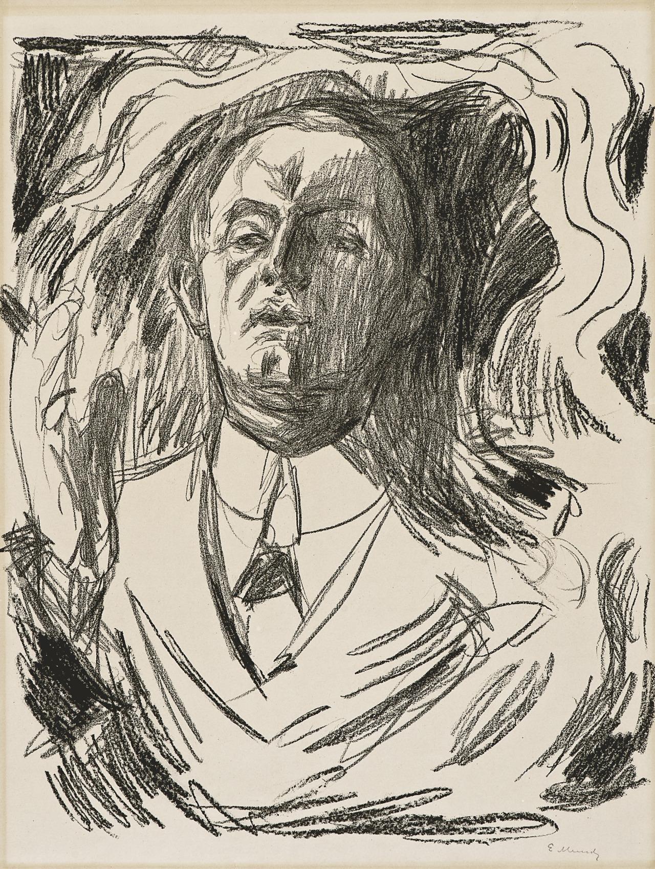 amare-habeo:Edvard Munch(Norwegian, 1863-1944)Self-Portrait with cigar, 1908