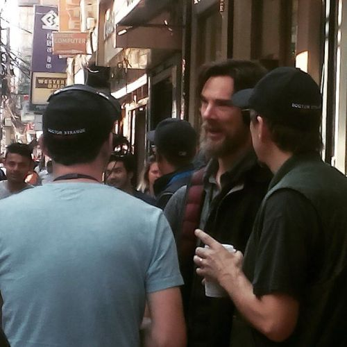 720 pixels - 2015 11 05 - New Road of Kathmandu - Filming of Marvel's ' Dr. Strange ' - with Benedict Cumberbatch and Scott Derrickson - by santosh_lamsal007Open in new tab / window to be directed to the source in             [720 x 720 pixels]            ![ Karin says : ]      The team are not exactly being subtle regarding what movie they are filming there, are they ?X from here