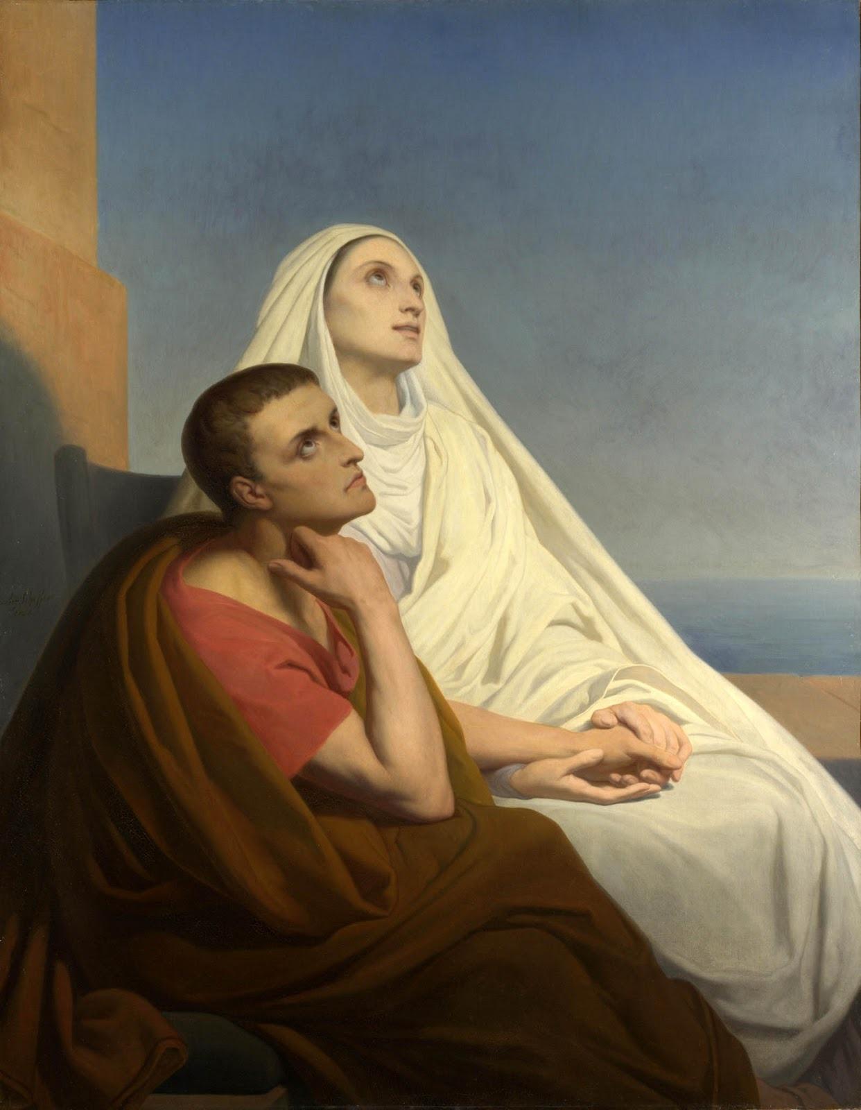 Saints Augustine and Monica, 1854. Artist: Scheffer, Ary (1795-1858)