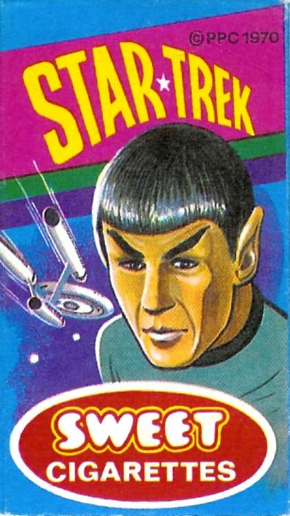 Star Trek Sweet Cigarettes - Primrose Confectionery (England) - 1970