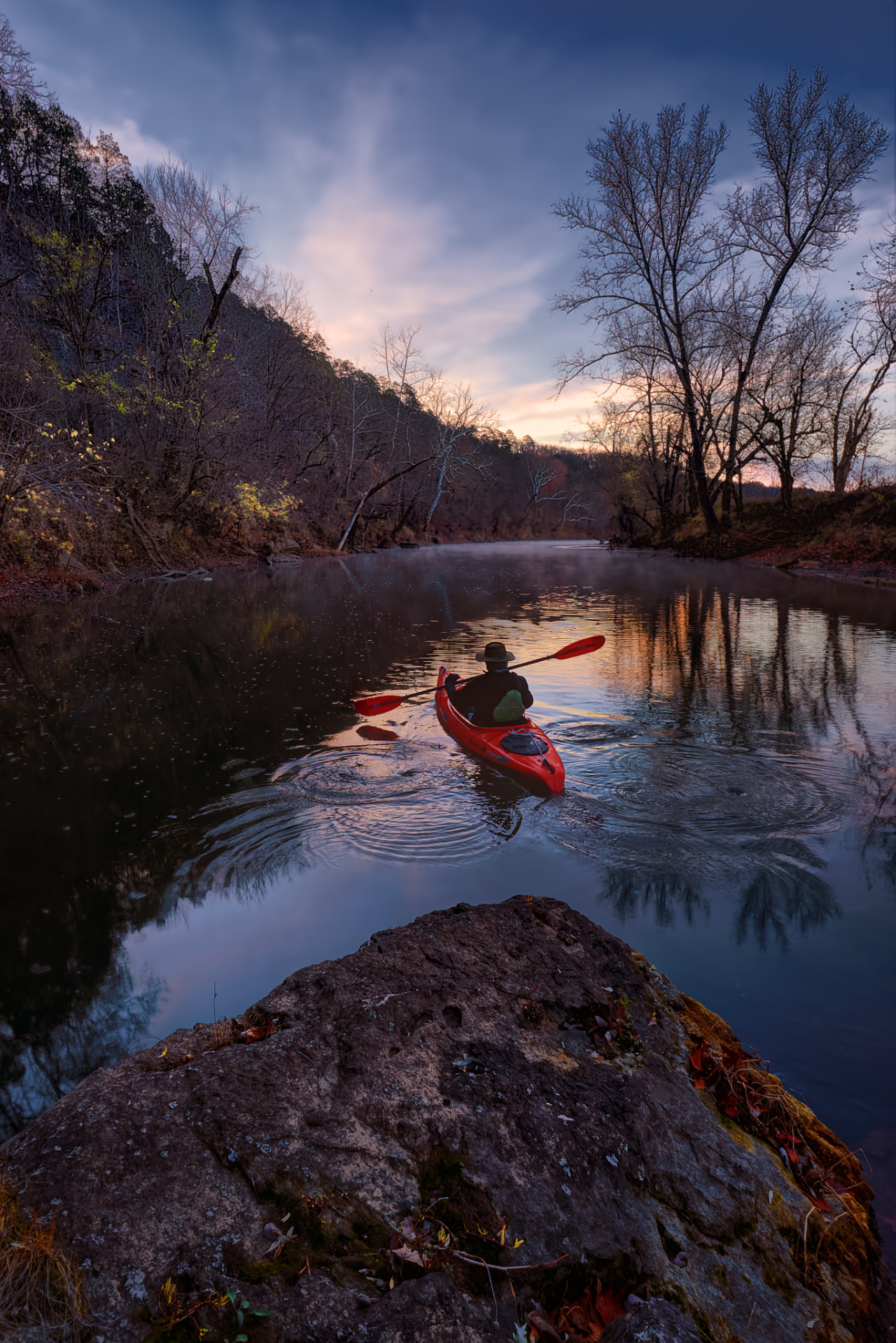 An early Morning paddle on Big River in the Ozarks of Missouri                       by   Robert Charity (exact location in source)  Travel Gurus - Follow for more Nature Photographies!