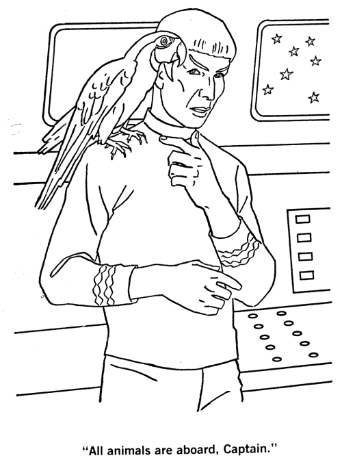 that you can print star trek coloring book pages from the internet
