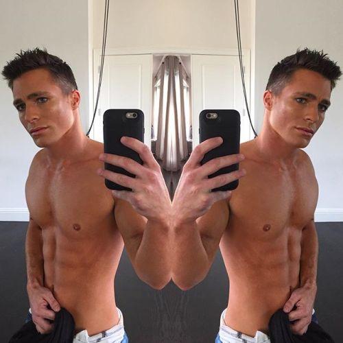debriefed:  Celebrity Selfies: shirtless Colton Haynes 12