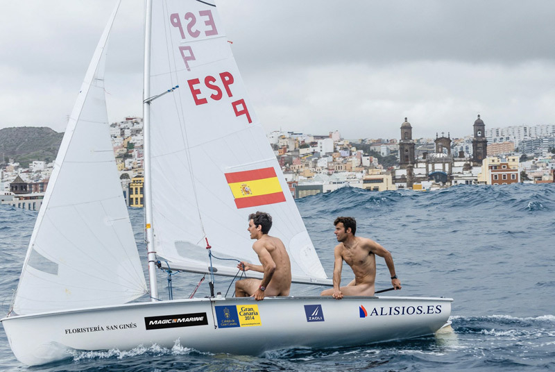 naked Spanish Olympic sailors