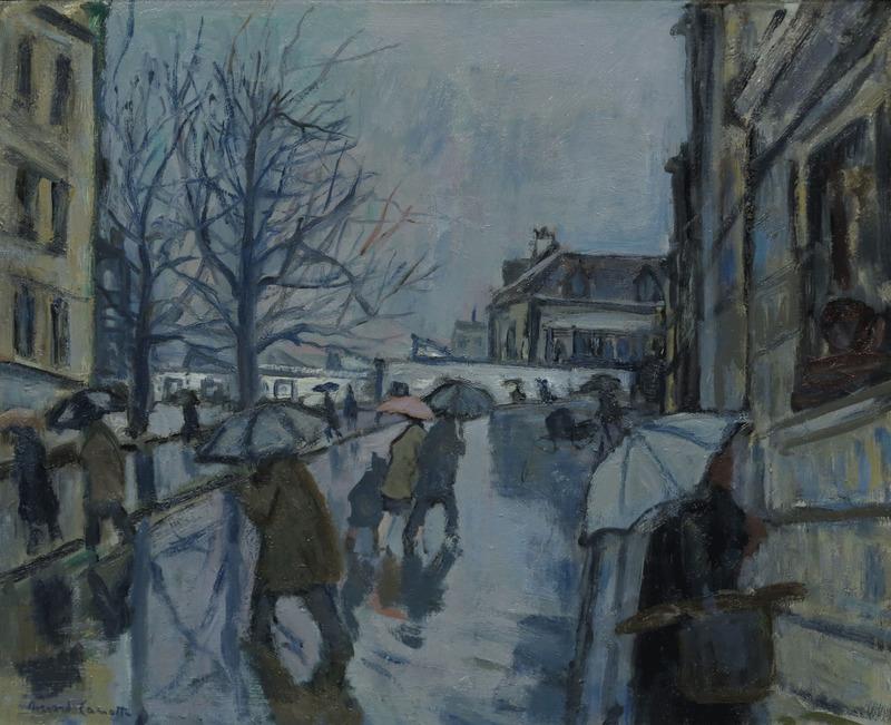 lilithsplace: Montmartre in the Rain - Bernard Lamotte (1903–1983)