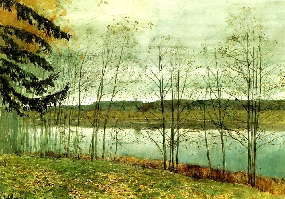 Isaac Levitan (Russia 1860-1900)Ausumn Landscape (1891-1899)oil on canvas