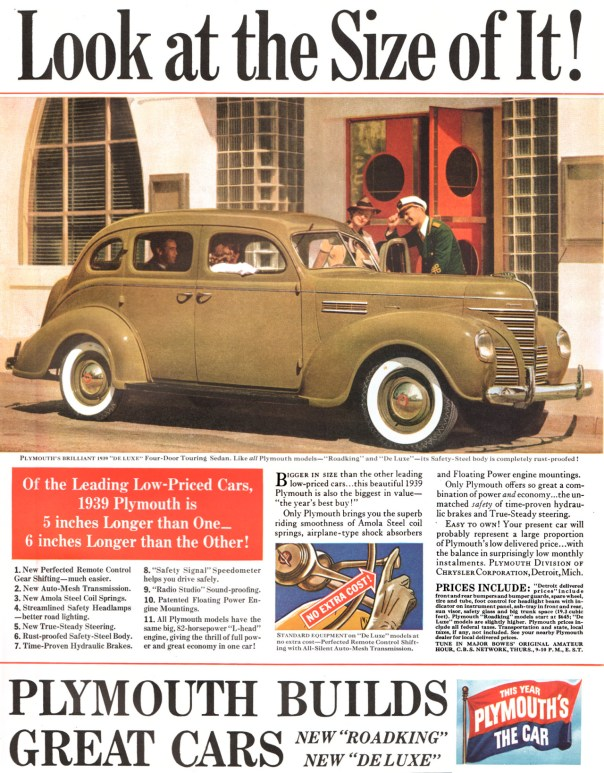 1939 Plymouth De Luxe Four-Door Touring Sedan