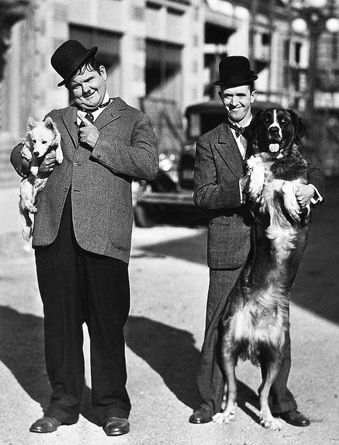 valscrapbook: Oliver Hardy and Stan Laurel by Vintage-Stars on Flickr.