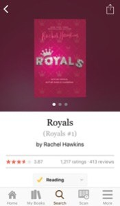 Reading: Royals by Rachel Hawkins