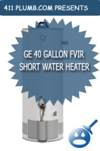 GE 40 Gallon FVIR Natural Gas Short Water Heater