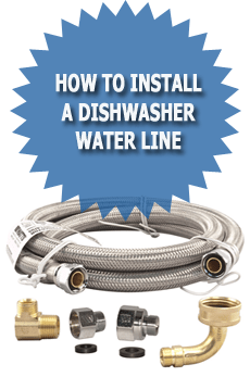 How to install a dishwasher water line