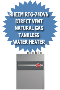 Rheem RTG-74DVN Direct Vent Natural Gas Tankless Water Heater