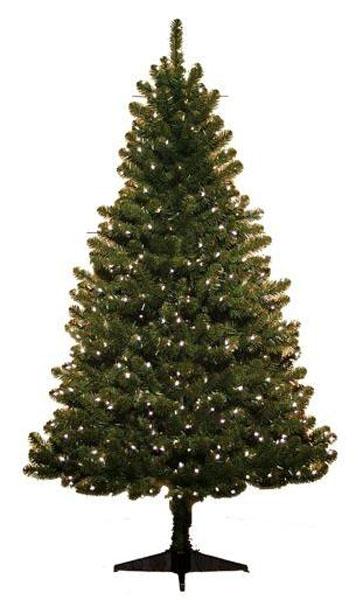 Holiday Time Pre-Lit 6.5′ Colorado Pine Artificial Christmas Tree