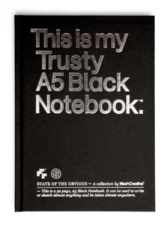 A5 Black Notebook