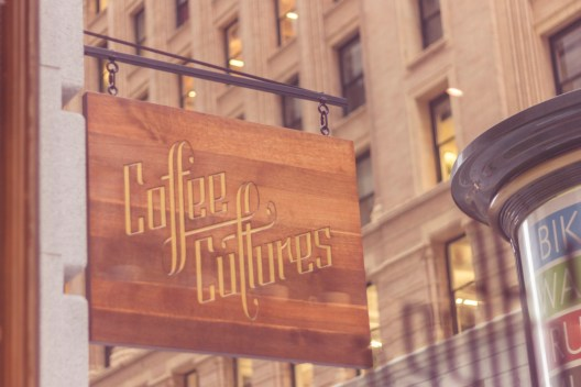 coffee cultures sign