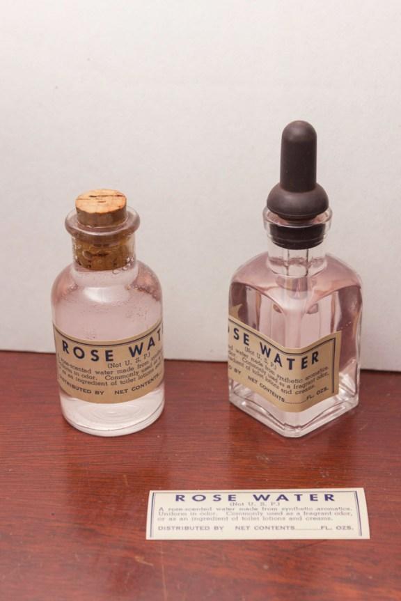 rose water on white