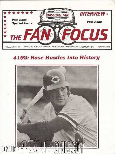 Pete Rose Newsletters And Programs