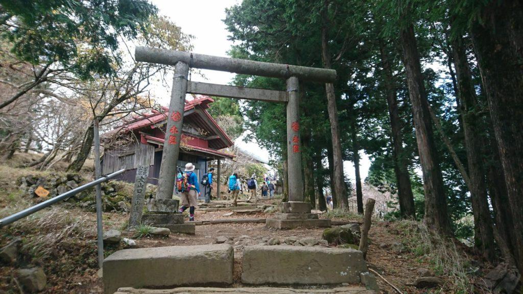 頂上にある素敵な神社