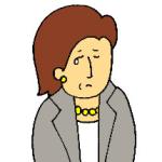 50代女性スーツ(悲しい)