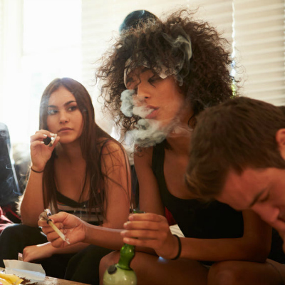 Girls Smoking Joint House Party