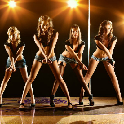 Female Dancers On Stage