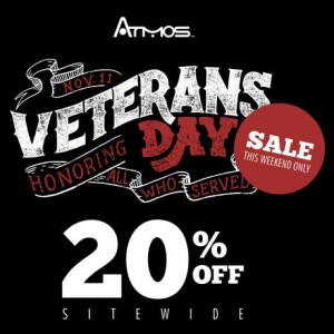 Atmos Veterans Day Sale AtmosRX Coupon Code