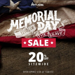 Memorial Day Discount AtmosRX Coupon Code