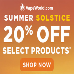 Summer Solstice Sale VapeWorld Coupon Code