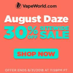 VapeWorld End Of Summer Sale Coupon Code Discount
