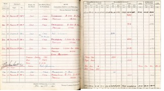 Logbook pages 21-22