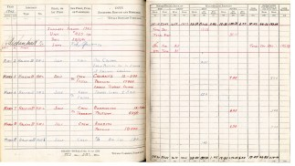Logbook pages 25-26
