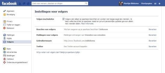 Facebook volgers