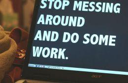 Stop messing around