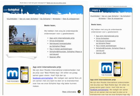 E-mailmarketing_Schiphol