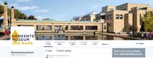 Twitteraccount Gemeente Museum Den Haag