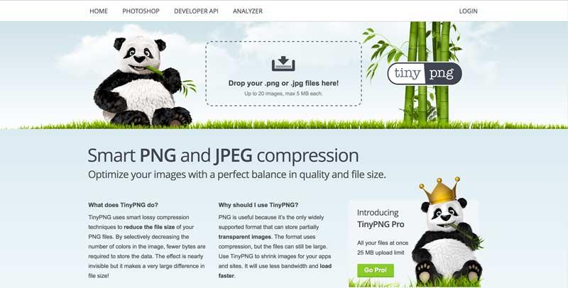 De site van tinyjpg