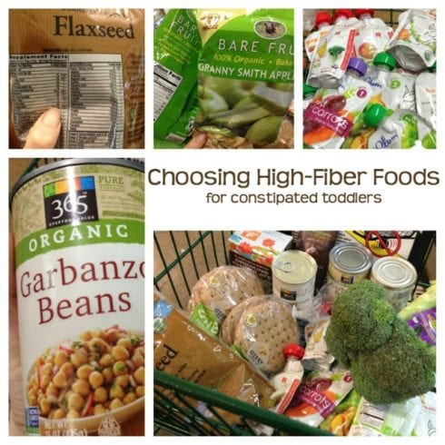 Choosing high-fiber foods to help a constipated toddler