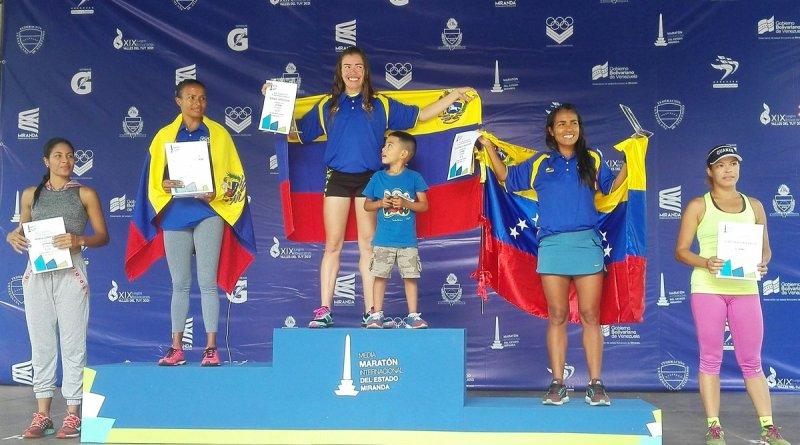 La guariqueña Nubia Arteaga se situó en lo más alto del podio en Miranda 21K/Gobernación de Miranda