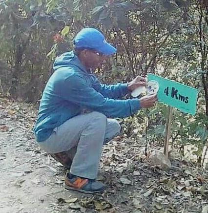 Una de las señalizaciones colocada por el profesor Carlos Pino y su equipo de Estrellas Olímpicas de Venezuela