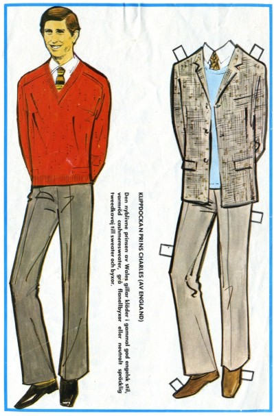 Prince Charles Paper doll