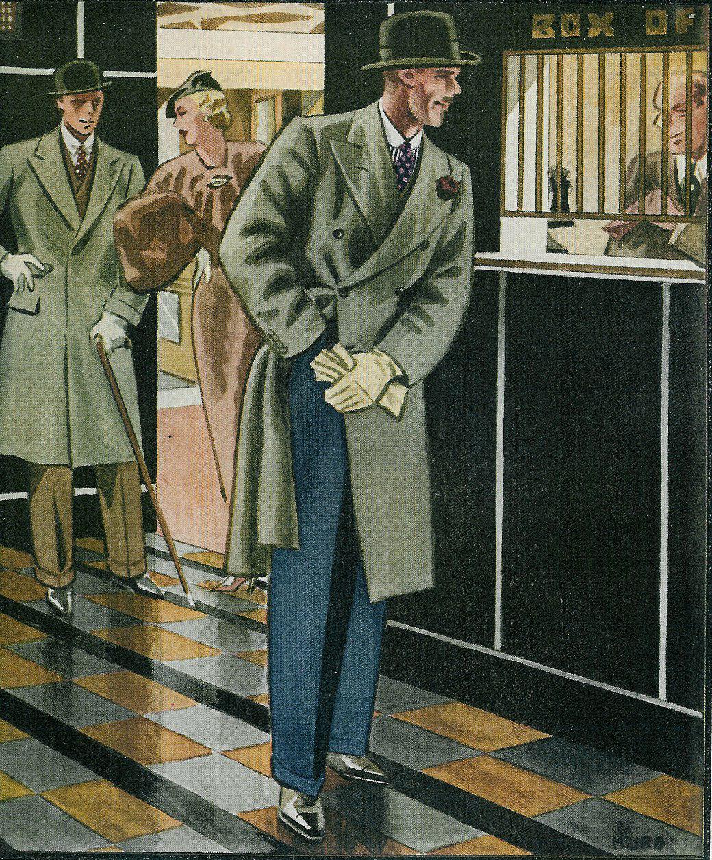 The black Homberg-- the hero swipes the villain's hat. --Esquire magazine