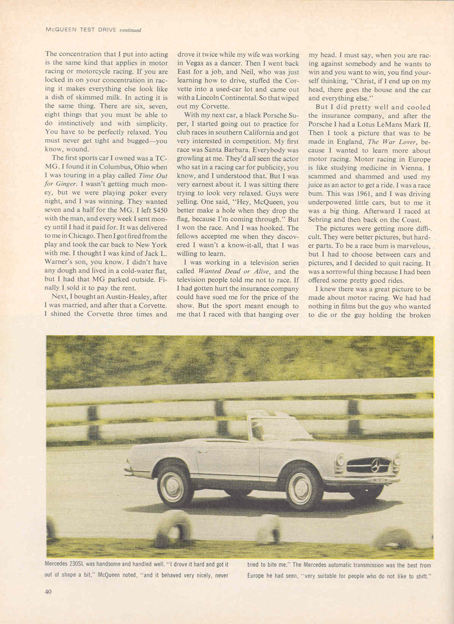 sports ilustrated steve mcqueen page7
