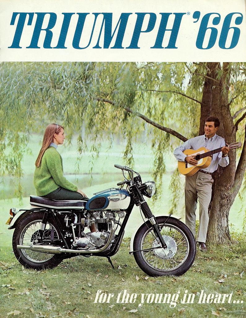 1966 Triumph motorcycle ad