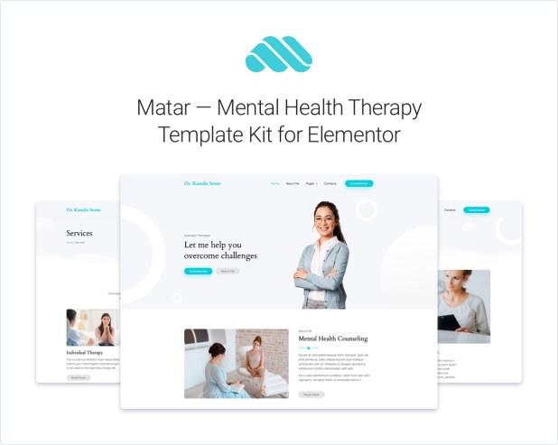 Matar Elementor Template Kit Presentation Part 1