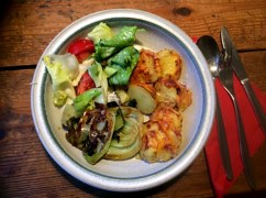 8.1.16 - Kartoffelgratin,Pak Choi,Endiviensalat,vegetarisch (14)