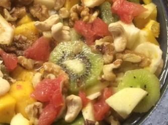 13.3.16 - Focaccia,Hummus,Salat,Obstsalat,vegan (23)