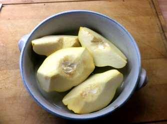 20.3.16 - Kartoffelsalat,pchiertes Ei,Quitten Dessert,vegetarisch (18)