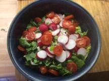 25.3.16 - Rotbarsch,Süßkartoffelpürree,Salat,Petersiliensoße (10)