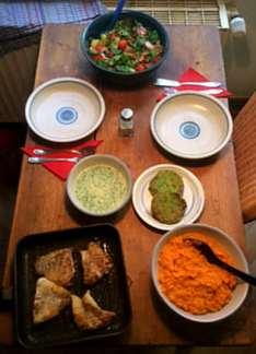 25.3.16 - Rotbarsch,Süßkartoffelpürree,Salat,Petersiliensoße (13)