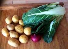28.3.16 - Mangold,Tassenei,Kartoffeln,Dessert (2)